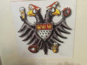 Kölnbild Jecken Adler mit Flöns und Kölsch aus einer Wohnungsauflösung